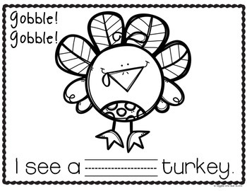 Turkey Colors Pocket Chart and Writing Freebie! (Work Work/Work on Writing)