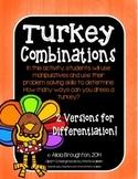 Turkey Combinations: Problem Solving Activity