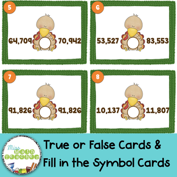Turkey Comparing Five Digit Numbers Scoot
