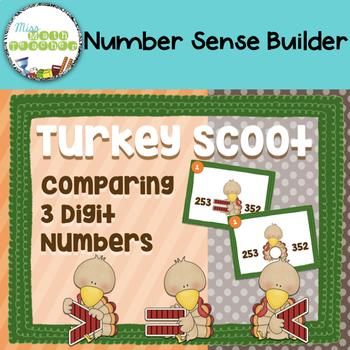 Turkey Comparing Three Digit Numbers Scoot