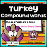 Turkey Compound Word Game for Thanksgiving Center Activity 1st, 2nd, 3rd Grade