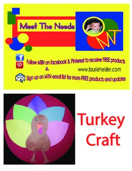 Turkey Construction Paper Craft-JUMBO SIZE