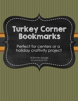 Turkey Corner Bookmarks