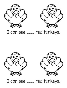 Turkey Counting Book 1-10