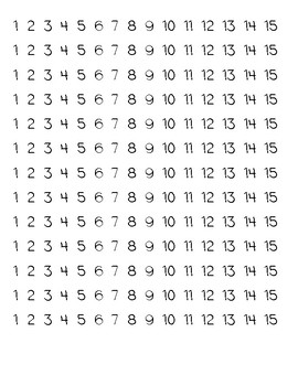 Turkey Counting Book- Numbers 1-15
