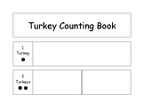 Turkey Counting Book- Numbers 1-5