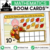 Turkey Counting Boom Cards™ | Ten Frames 1-10