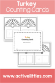 Turkey Counting Cards 1-20