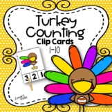 Turkey Counting Clip Cards 1-10