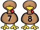 Turkey Counting Clip It Math