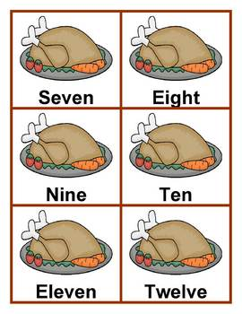 Turkey Counting File Folder Game