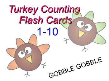 Turkey Counting Flash Cards