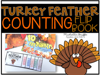 Turkey Feather Counting Flip Book