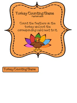 Turkey Counting Game