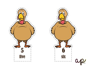 Turkey Counting Independent Work Station Activity