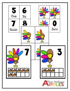 Turkey Counting Mats 1-10