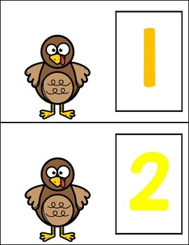 Turkey Counting Mats (use feathers, play dough or manipulatives)