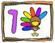 Turkey Counting Playdough Mats