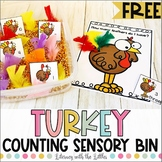 Turkey Counting Sensory Bin Freebie