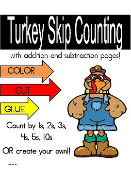 Turkey Counting, Skip Counting, Adding & Subtracting (0-20)