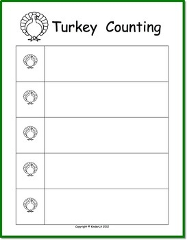 Turkey Counting for PreK