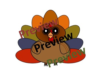 Turkey Craft Activity Bulletin Board Clipart