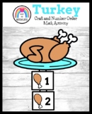 Turkey Craft Activity: Counting Math Center for Thanksgiving