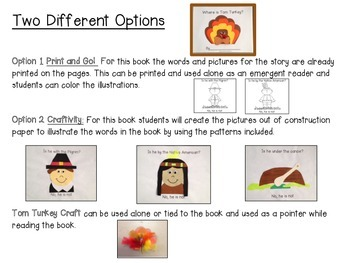 Turkey Craft Book Common Core Aligned