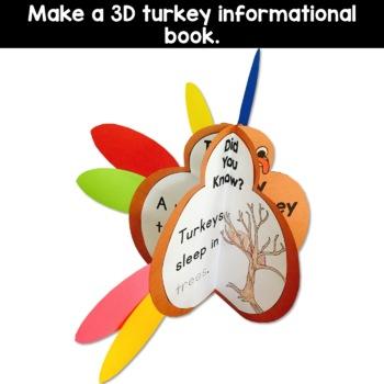 Turkey Craft Book for Thanksgiving