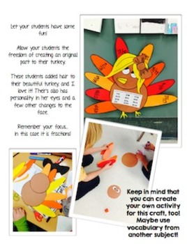 Turkey Craft - Craftivity