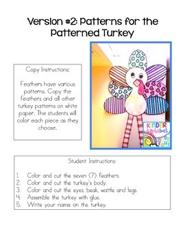 Turkey Craft - English