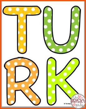 Turkey Craft (Thanksgiving Display)