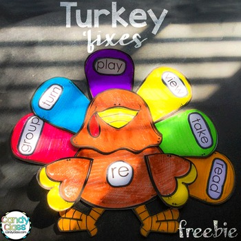 Turkey Prefix Craft Freebie: A Fun NO PREP Thanksgiving Activity