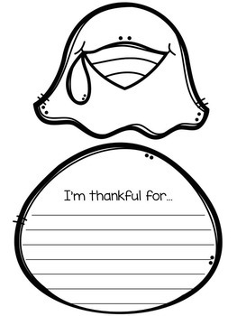 "Thanksgiving Turkey Craft - ""I'm Thankful For..."""