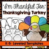 Thanksgiving Turkey Craft - I am thankful for...