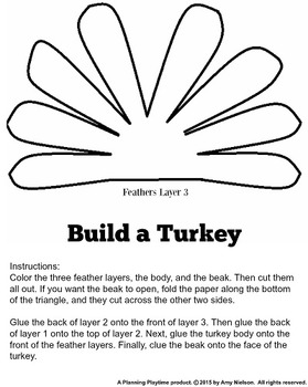 Turkey Craft Printable Template