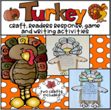 Turkey Craft, Reader's Response and Writing Activities