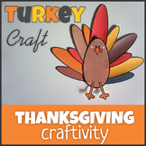 Turkey Craft - Template Cut and Paste - Thanksgiving
