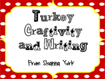 Turkey Craft & Writing
