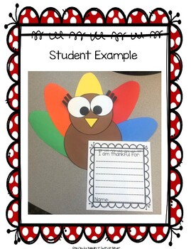 Turkey Craft! Writing Prompts and Craft