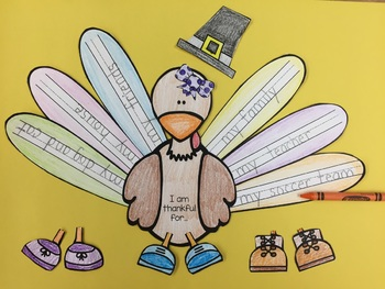 Turkey Craft and 8 Different Writing Prompts