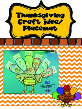 Turkey Craft and Placemat