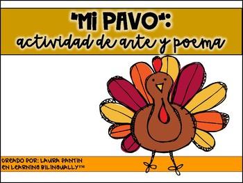 Turkey Craft and Poem in Spanish