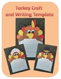 Turkey Craft and Writing Template (Thanksgiving)