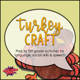 Turkey Craft for Speech Therapy