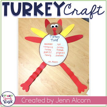 Turkey Craft Activities for Speech Therapy