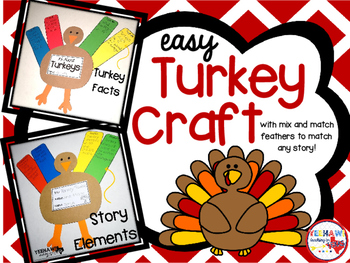 Turkey Craft with Mix and Match Story Feathers