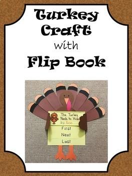 Turkey Craft with Sequencing Flip Book