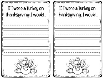 Turkey Craft with Writing Prompt : Fall Crafts : Thanksgiving Craft