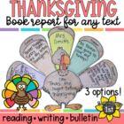Turkey Craftivity / Graphic Organizer for Thanksgiving Read Alouds